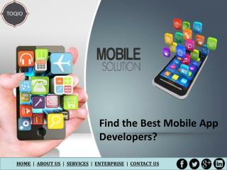 Find the Best Mobile App Developers?