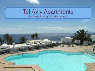 Tel Aviv Apartments - Enjoy Your Holidays