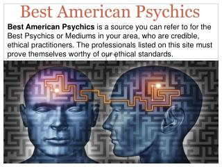 Online Best Psychics: Best American Psychics