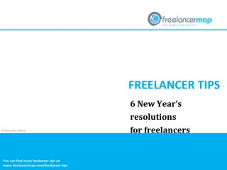6 New Year's resolutions for freelancers