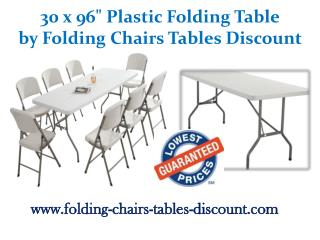30 x 96 Inches Plastic Folding Table by Folding Chairs Tables Discount