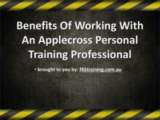 Benefits Of Working With An Applecross Personal Training Professional