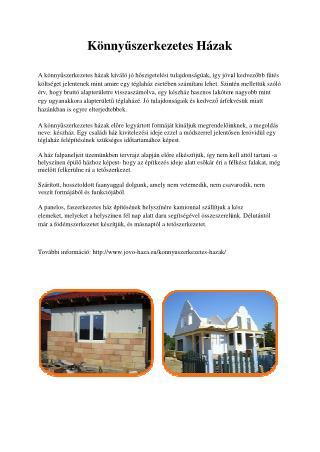 Készház építési megoldások