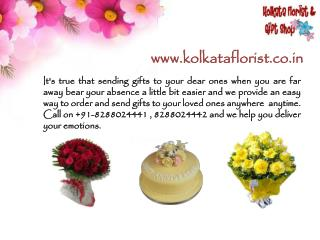 Send Online Flowers & gifts to Kolkata