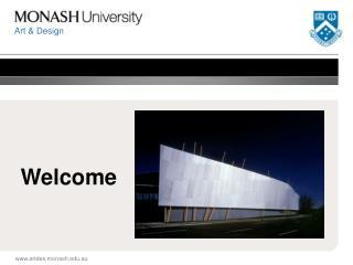 Welcome artdes.monash.au