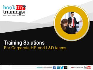 Training Solutions For Corporate HR and L&D teams