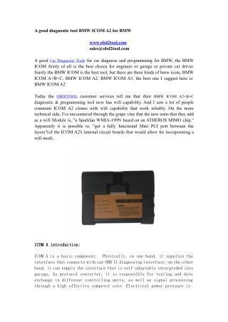 A good diagnostic tool BMW ICOM A2 for BMW