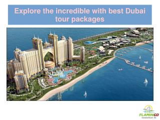 Explore the incredible with best Dubai tour packages