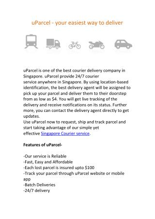 uParcel - Courier Delivery Service