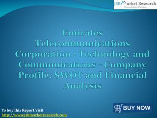 Emirates Telecommunications Corporation: JSBMarketResearch
