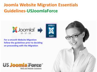 Joomla Migration Checklist - US Joomla Force