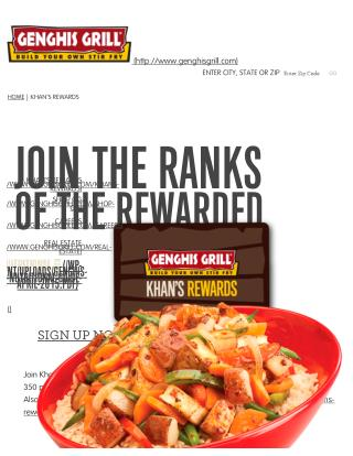 Join Genghis Grill Rewards - Irresistible  Offer