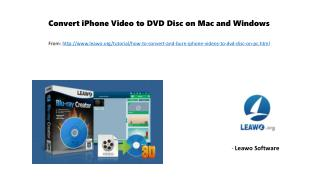 Convert i phone video to dvd disc on mac and windows