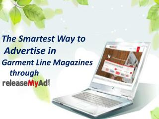 Advertising Analysis on Garment Line Magazine
