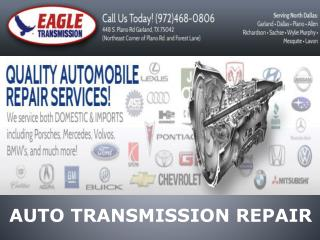 Auto Transmission Repair Services in Texas