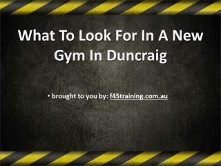 What To Look For In A New Gym In Duncraig