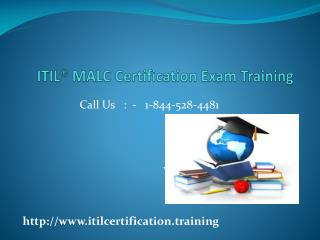 ITIL Foundation Certification Training Certification : 1-844-528-4481