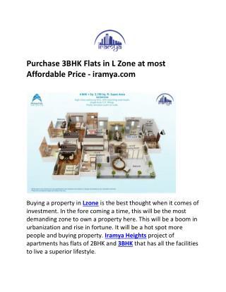 3BHK in L Zone- iramya.com
