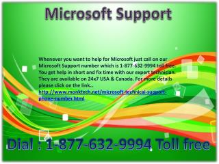 Support Number of Microsoft !!#!! 1-877-632-9994 Toll free