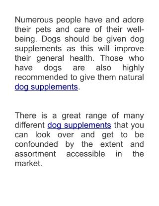Dog Supplements - Primed Paws