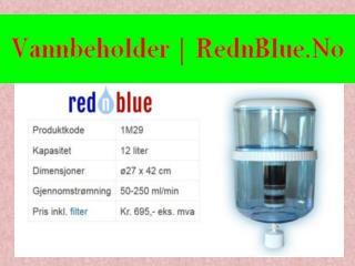 annbeholder i glass med tappekran - RednBlue.No