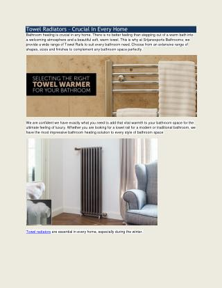 Towel Radiators-Crucial in Every Home