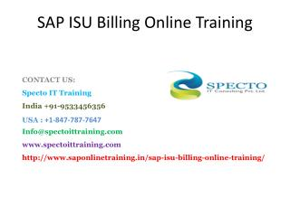 sap isu billing online training in canada