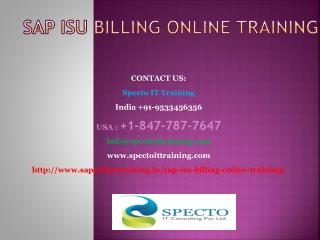 sap isu billing online training in south africa
