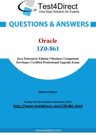 1Z0-861 Oracle Exam - Updated Questions