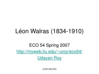 L on Walras 1834-1910