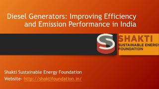 Diesel Generators: Improving Efficiency and Emission Performance in India