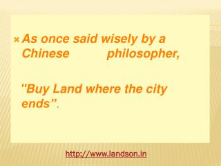 Plots for sale in pune-Landson REALTY