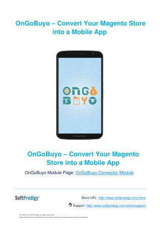 OnGoBuyo- Create Mobile App for Your Magento Store