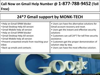 Gmail For Work- Gmail Support Phone Number |1-877-788-9452