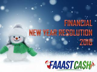 Financial New Year Resolution For 2016