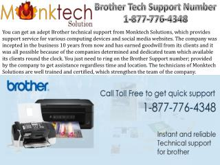 Brother tech support Number toll free 1-877-776-4348