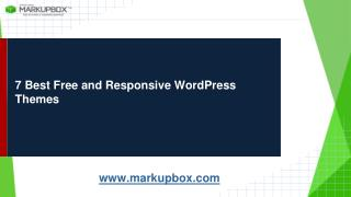 7 Best fFee And Responsive Word Press Themes
