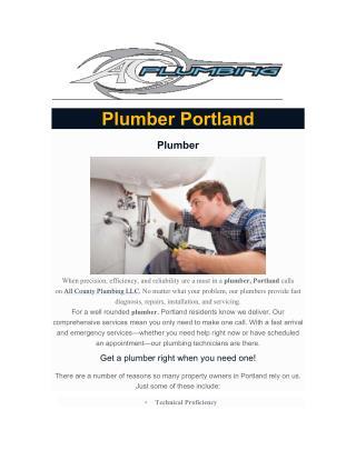 Plumber Portland