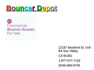 Special sale offers on Bounce houses