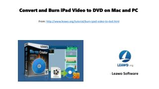 Convert and burn i pad video to dvd on mac and pc