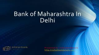 Bank of Maharashtra Delhi