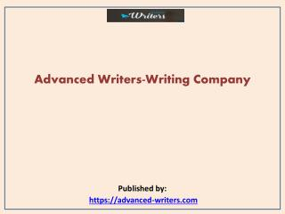 Advanced Writers-Writing Company