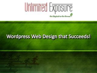 Wordpress Web-Design That Succeeds!