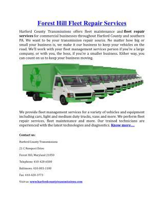 Forest Hill Fleet Repair Services