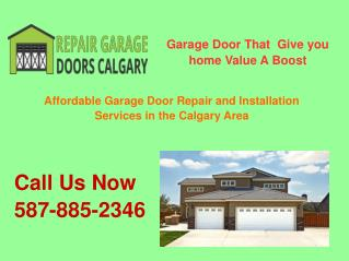 Repair Garage Doors Calgary- Installation & Replacement Service