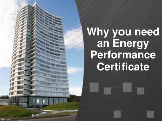 Why you need an Energy Performance Certificate