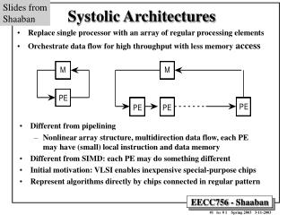 Systolic Architectures