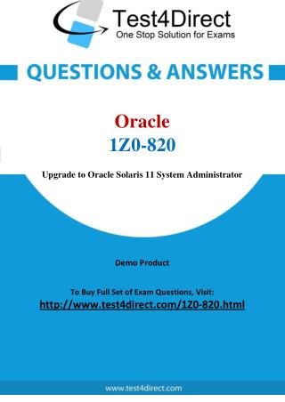 Oracle 1Z0-820 Test - Updated Demo
