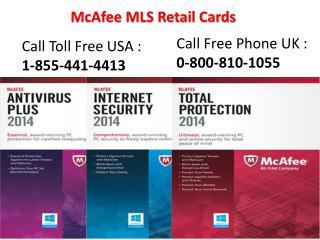 Mcafee MLS retail Card