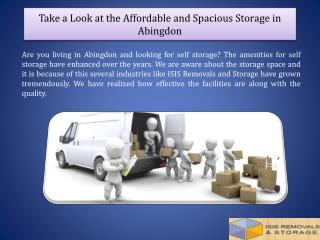 Take a Look at the Affordable and Spacious Storage in Abingdon